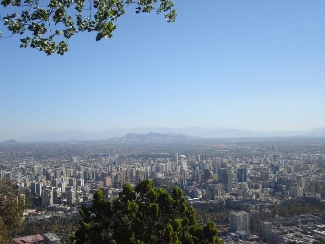 Santiago: vue du cerro San Cristobal