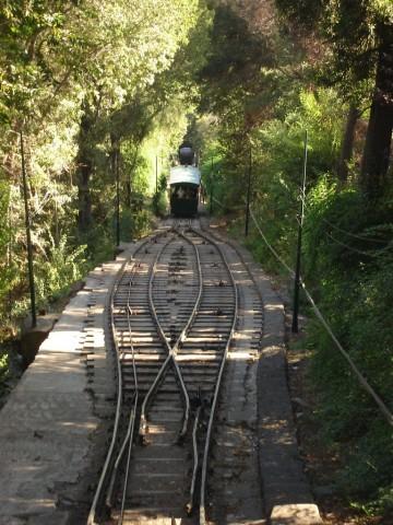 Santiago: le funiculaire pour monter au cerro San Cristobal