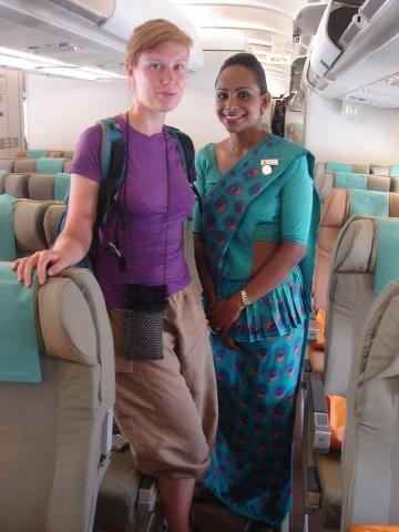 j'adore les tenues des hôtesses de Sri Lankan airlines
