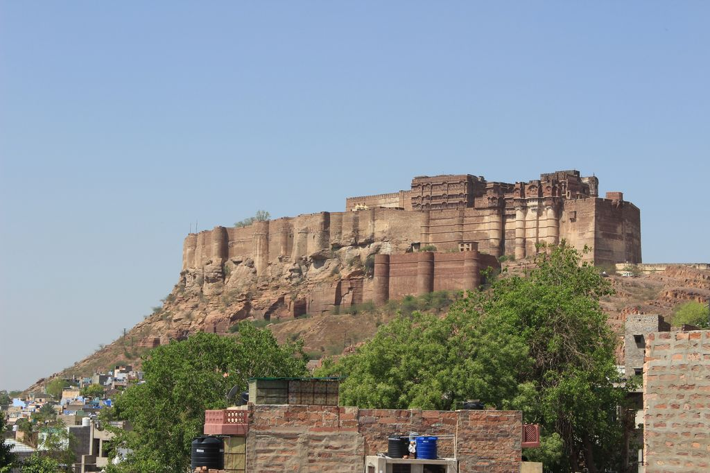 Citadelle de Mehrangarh depuis la route
