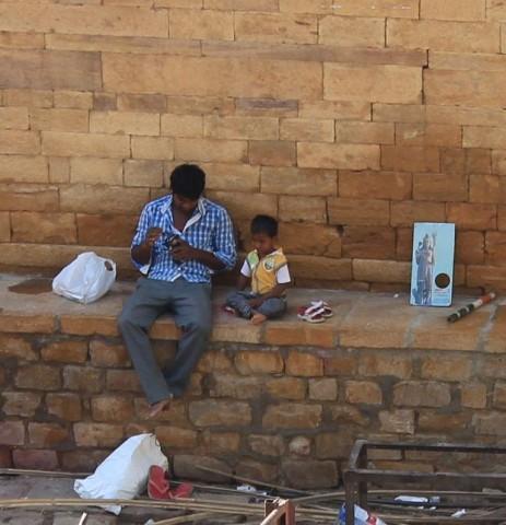 scène de rue à Jaisalmer
