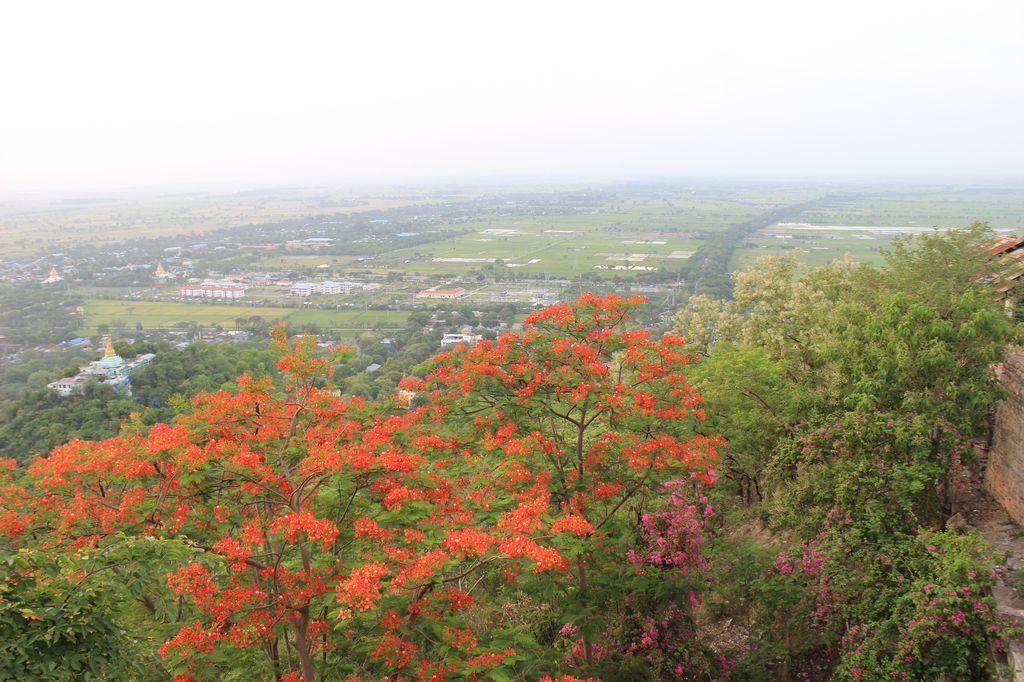 vue de la colline de Mandalay