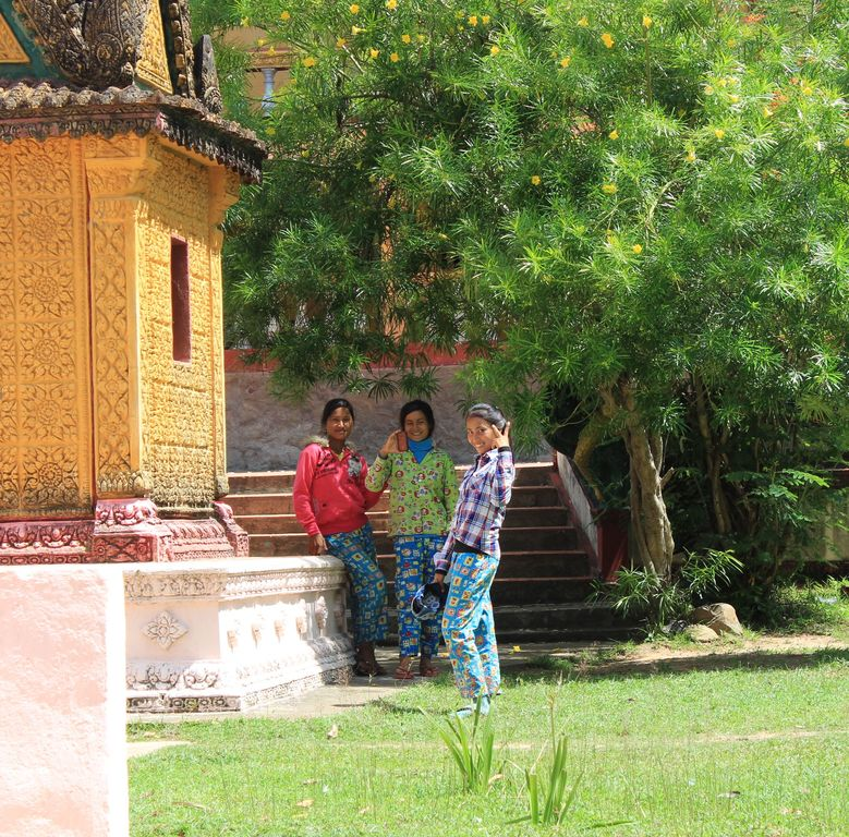 Village de Sambor: la pause dans le temple