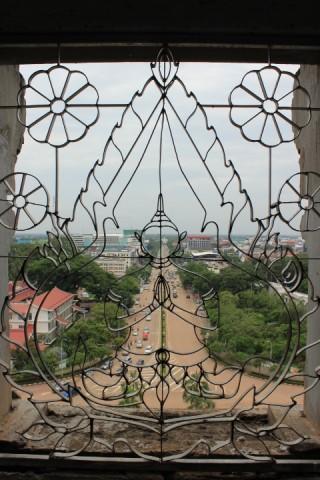 vue du haut de l'arc de triomphe